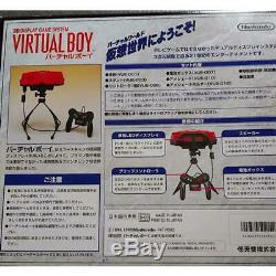 Nintendo Virtual Boy Red & Noir Console 3d Japon Rare Item Jeux Rétro