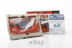 Nouveau Sega Game Gear Console Rare Hgg-3215 Rouge Japon Testée Retro Nib Mint