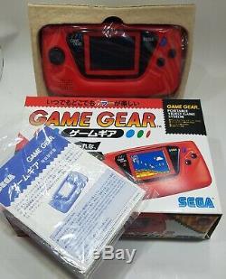 Nouveau Sega Game Gear Console Rare Hgg-3215 Rouge Testé Retro Vintage Japon Gg