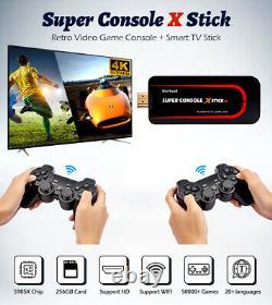 Nouveau Super Jeu Console X Stick 4k Hdmi Wireless Dual Controller Portable Retro