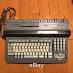 Panasonic Fs R Turbo Msx-a1st Rétro Jeu Cru Gris Foncé Utilisé Dhl