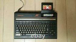 Panasonic Msx2 Fs-a1f Console Avec Beaucoup De 6 Soft Retro Jeu F /s Fdd Msx Japon