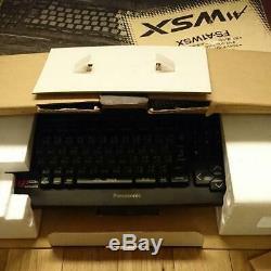 Panasonic Msx2 + Fs-a1wsx Bureau Jeu De Console D'ordinateur Utilisé Le Junk Noir