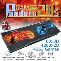 Pandora Box 20s 4263 En 1 3d Classic Arcade Console Jeux Vidéo Rétro