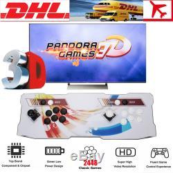 Pandora Box 3d 2448 Jeux En 1 Retro Jeux Vidéo 2 Joueurs Arcade Console Support