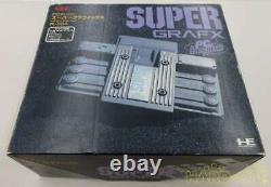 Pc Engine Super Grafx Console System Pi-tg4 Nec Black 1989 Retro Game Boxed