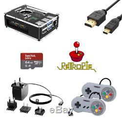 Retro Arcade Jeux Console Raspberry Pi 4b De 30 Systèmes Et Jeux 10.000+