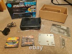 Retro Sega Mega CD 1 (mk1) Boxed Avec Manuel Et Jeu Package Testé Travail