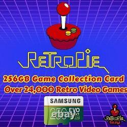Retropie Guy Retro Ultimate 256 Go Package Raspberry Pi 4 Console Games Câbles
