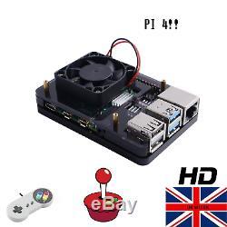 Retropié Retro Gaming Console Raspberry Pi 4 Modèle B 32go Chargé Jeux En Hd