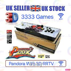 Royaume-uni Seller 3333 Jeux Homme Cave Wifi Retro 3d Hd Vidéo Pandora Arcade Box Console
