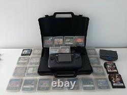 Sega Game Gear Console Plus Huge Games Bundle / Cas Working Retro Sega-exc Cond