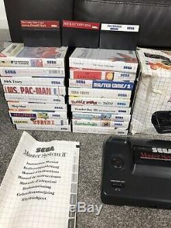 Sega Master System Consoles Et 59 Boxed Huge Games Bundle Joblot Retro Rare Royaume-uni