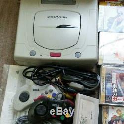Sega Saturn Is As Console Boxed Et Immense Terrain Souple Set Retro Jeu