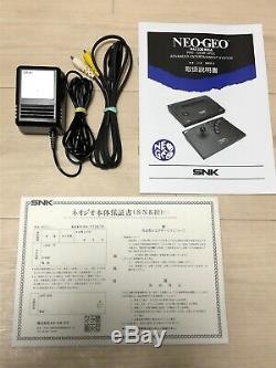 Snk Neo Geo Aes Neogeo Japon Rétro Console De Jeu Boxed Système Arcade Testé Ok
