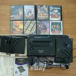 Snk Neogeo Aes Système Console Avec 8 Jeux Utilisés Livraison Gratuite Retro