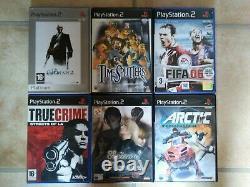 Sony Playstation 2 Console + 28 Jeux Package Cib Énorme Retro Lot Bon Marché Ps2 Vgc