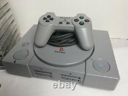 Sony Playstation Ps1bundle Avec 14 Jeux Soulblade Sanglant Rugissement 2 Jeu Rétro