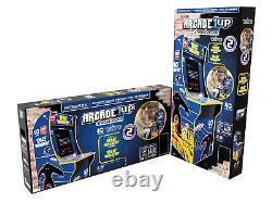 Space Invaders Arcade1up Retro Home Arcade Cabinet Machine 4ft 2 Jeux En 1 Nouveau