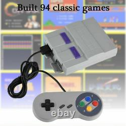 Super Mini For Snes Retro Classic Console De Jeux Vidéo Intégrée En 94 Jeux 16bit Sfc