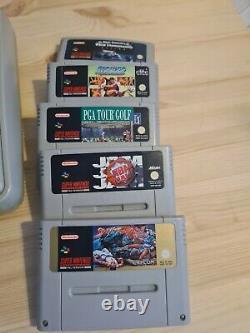Super Nintendo Snes Retro Vintage Console Bundle Avec 5 Jeux