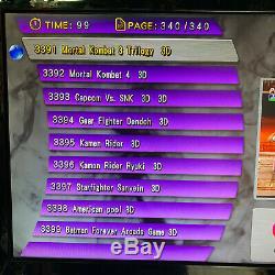 Uk Seller 3399 Jeux Boîte De Pandore 11s Retro Arcade Video Hd 3d Console 2-3 Del