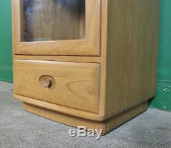 Vintage Ercol Salut Fi Cabinet, Elm, Windsor Record Player Media Console Jeux Unité